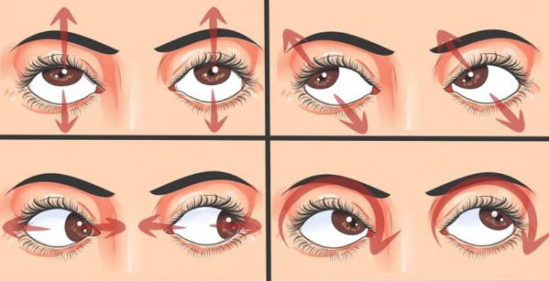 упражнения для очей
