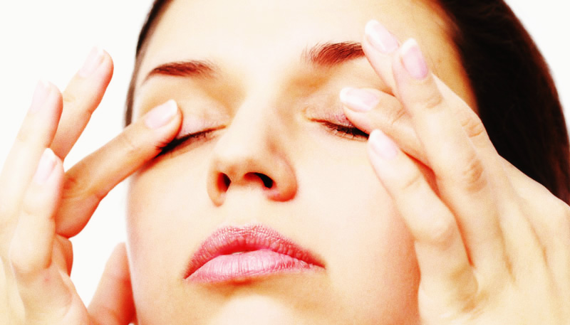 массаж ля глаз