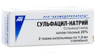 применение капель сульфацил